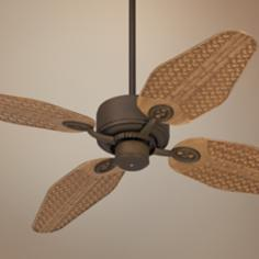 "52"" Casa Vieja Aerostat Weave Bronze Outdoor Ceiling Fan"