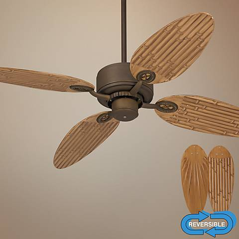 "52"" Casa Vieja Aerostat Bamboo Bronze Outdoor Ceiling Fan"