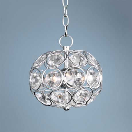 "ET2 Brilliant 7 3/4"" Wide 3-Light Oval Crystal Pendant Light"