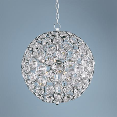 "ET2 Brilliant 16"" Wide 8-Light Round Crystal Pendant Light"