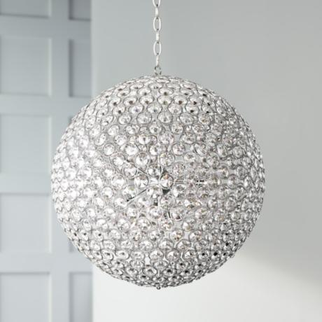 "ET2 Brilliant 36"" Wide 15-Light Round Crystal Pendant Light"
