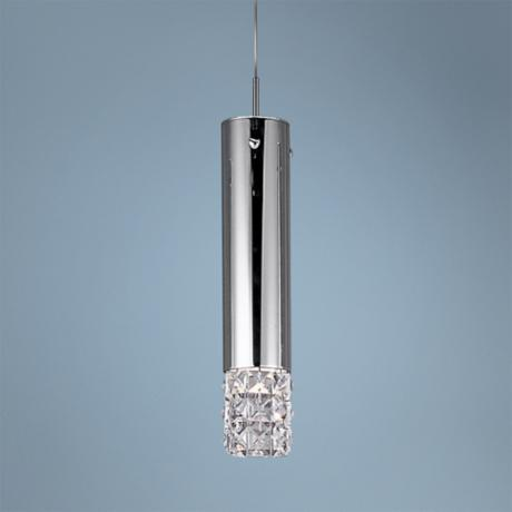 "ET2 Bangle Collection 4 3/4"" Wide Chrome Mini Pendant Light"