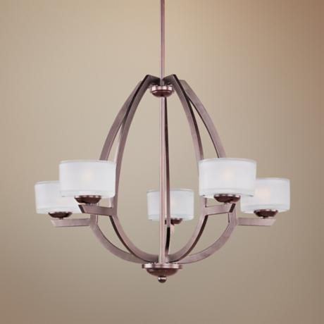 "ET2 Vortex 26 3/4"" Wide 5-Light Bronze Pendant Light"