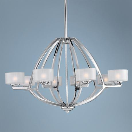 "ET2 Vortex 35"" Wide 8-Light Polished Chrome Pendant Light"