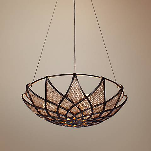 "Varaluz Argyle 20"" Wide Desert Pearl Bronze Pendant Light"