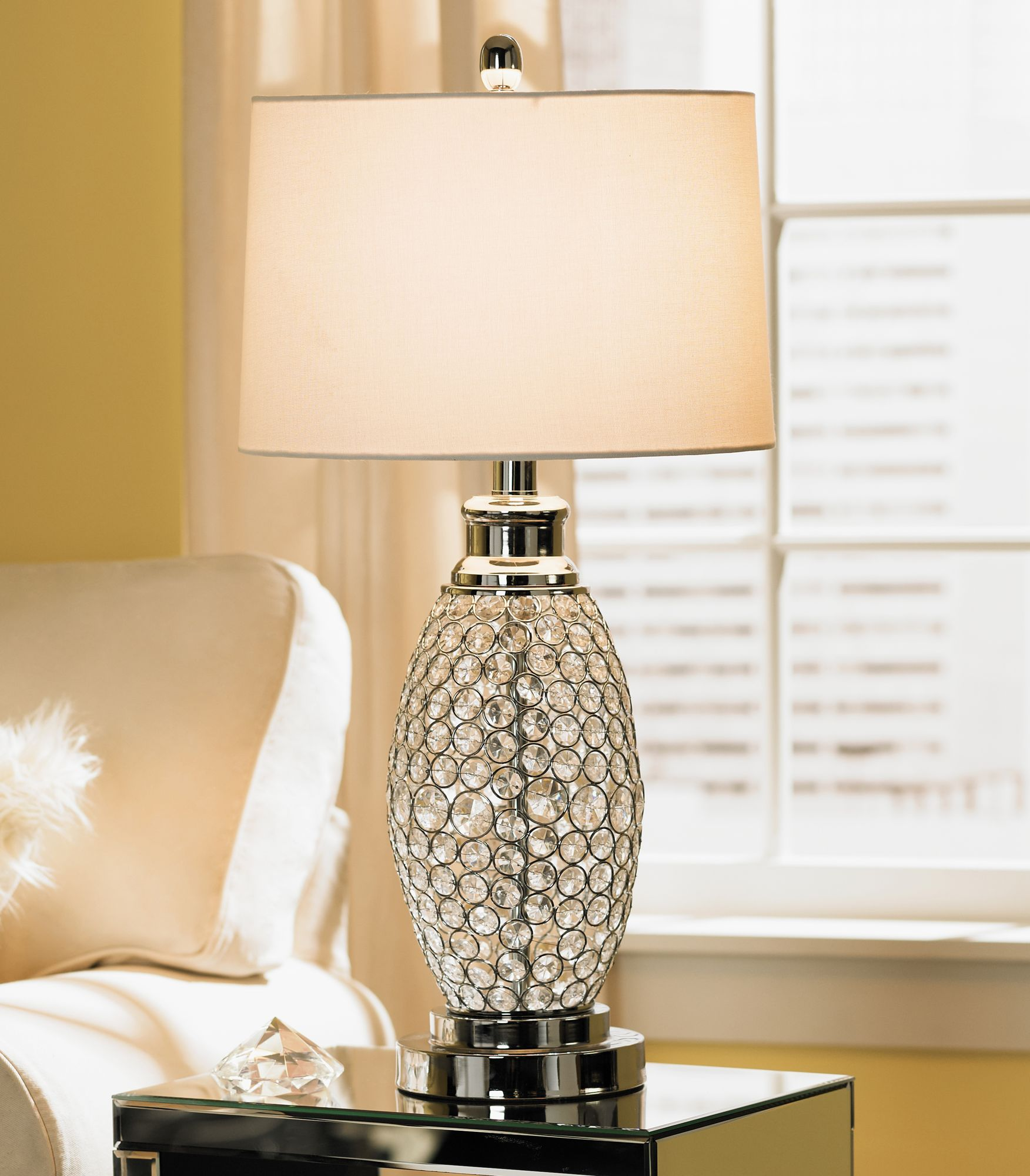 Nightstand Lamp Possini Euro Design Beaded Table Lamp
