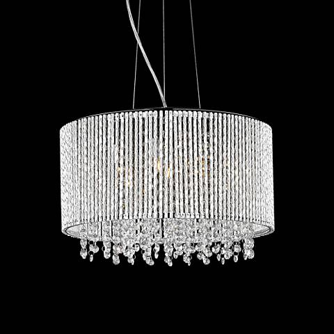 "ET2 Spiral 16 3/4"" Wide 7-Light Chrome Pendant Light"