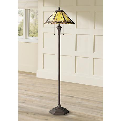 Arden Tiffany Style Quoizel Floor Lamp