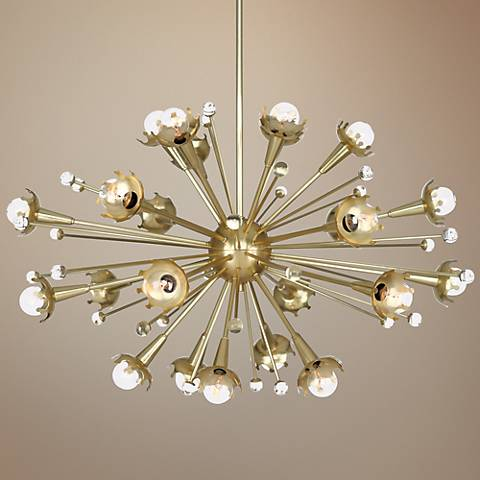 Jonathan Adler Sputnik 24-Light Antique Brass Chandelier