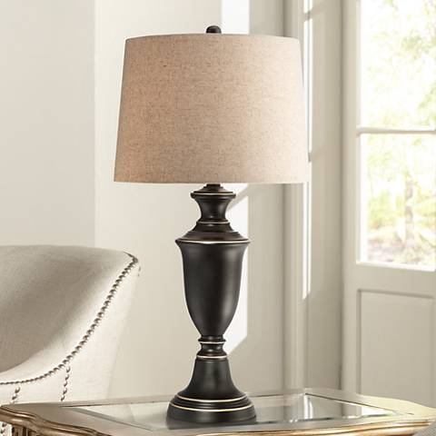 "Booker Decorative Metal Urn 29 1/4"" High Bronze Table Lamp"