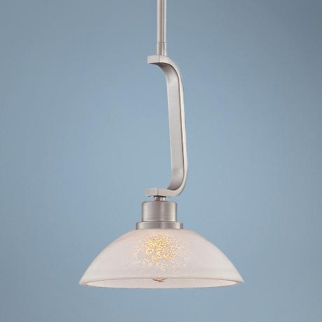 "Quoizel Phoenix Brushed Nickel 8"" Wide Mini Pendant Light"