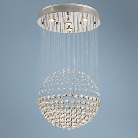 Floating Crystal Ball 4-Light Halogen Pendant Light