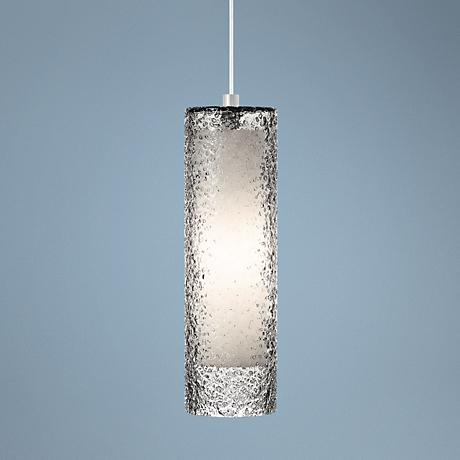 "LBL Rock Candy Smoke Glass 4 3/4"" Wide Pendant Light"