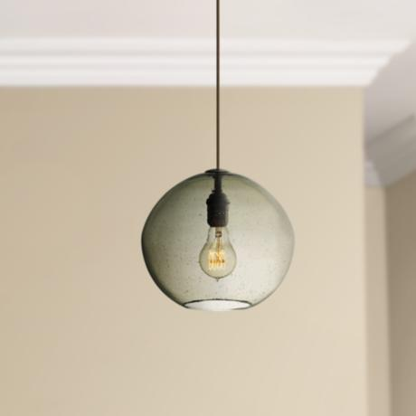 "LBL Isla Smoke Bronze 9 3/4"" Wide Pendant Light"
