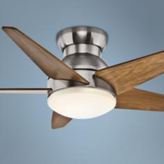"44"" Casablanca Isotope Brushed Nickel Hugger Ceiling Fan"
