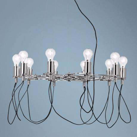 Possini Euro Chrome Adjustable Chandelier