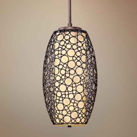 "Maxim Meridian 14"" Wide Umber Bronze Pendant Light"