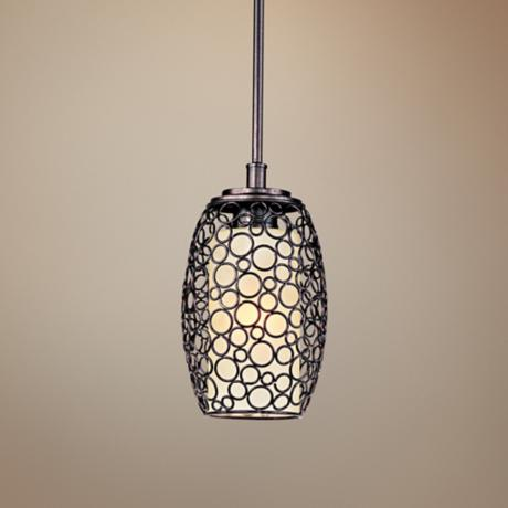 "Maxim Meridian 7"" Wide Umber Bronze Mini Pendant Light"