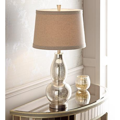 Double Gourd 30 1 2 Quot High Mercury Glass Table Lamp