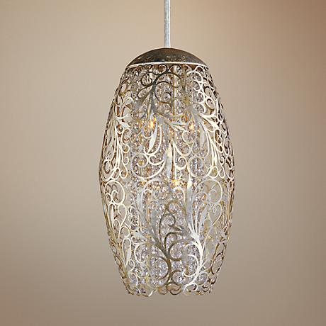 "Maxim Arabesque 13"" Wide Golden Silver Pendant Light"