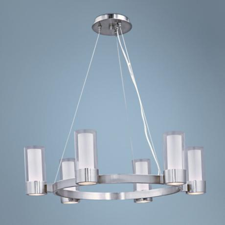 "Maxim Silo 27"" Wide Polished Chrome Chandelier"