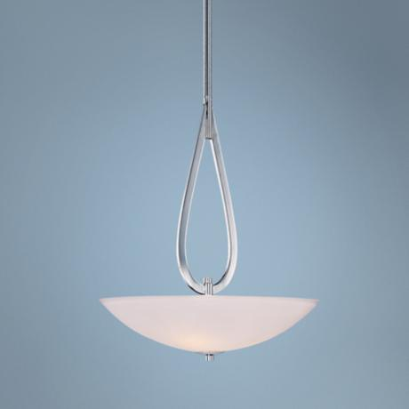 "Maxim Elan 20"" Wide Invert Bowl Chrome Pendant Light"