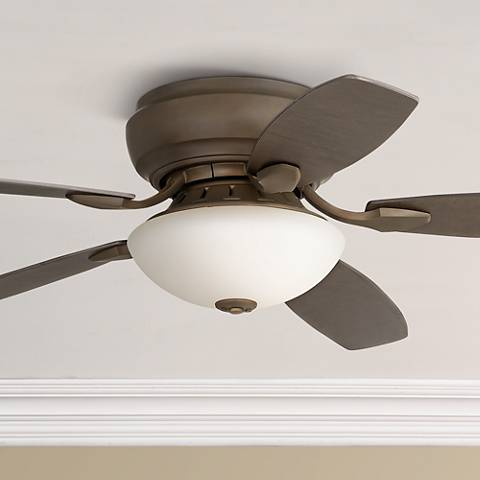 "52"" Casa Habitat™ Oil-Rubbed Bronze Hugger Ceiling Fan"