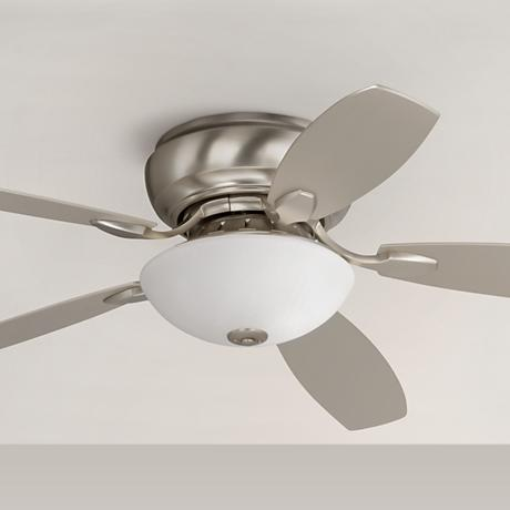"52"" Casa Habitat™ Brushed Steel Hugger Ceiling Fan"