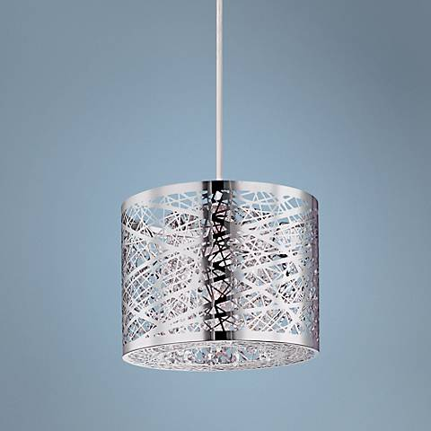 "ET2 Inca Web 7 3/4"" Wide Polished Chrome Mini Pendant Light"