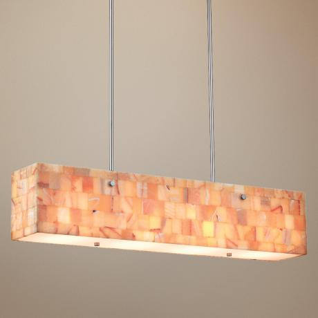 "Forecast Hudson 36"" Wide Onyx Mosaic Pendant Light"
