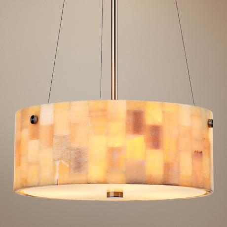 "Forecast Hudson 15"" Wide Onyx Mosaic Pendant Light"