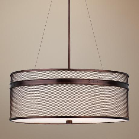 "Forecast I Beam 24 1/2"" Wide Merlot Bronze Pendant Light"