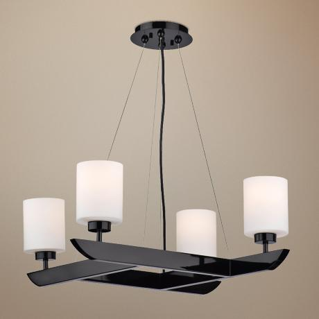 "Forecast Attitude 27 1/2"" Wide Gloss Black Chandelier"