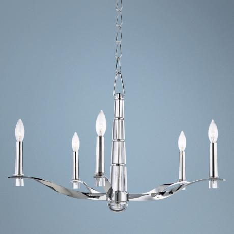 "Hudson Valley Sterling 29"" Wide Polished Chrome Chandelier"
