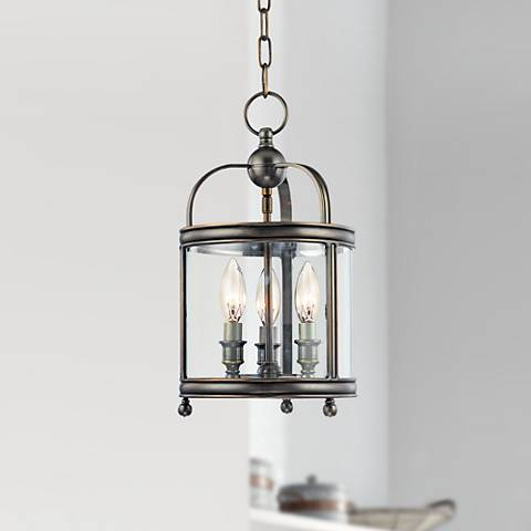 "Hudson Valley Larchmont 8 1/2"" Wide Bronze Pendant Light"