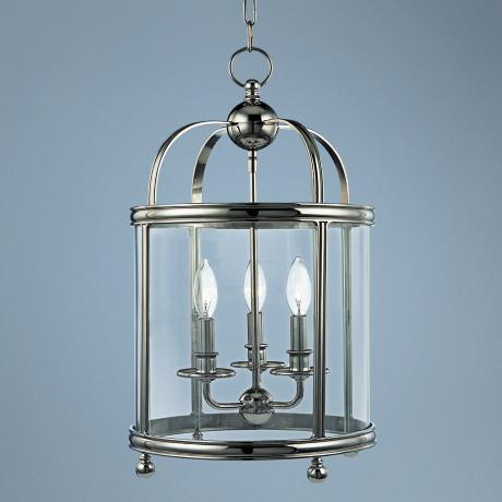 "Hudson Valley Larchmont 12 1/2"" Wide Nickel Pendant Light"