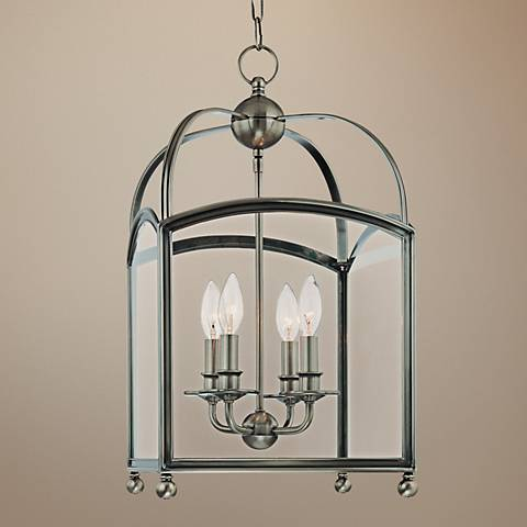 "Hudson Valley Millbrook 12"" Historic Nickel Pendant Light"