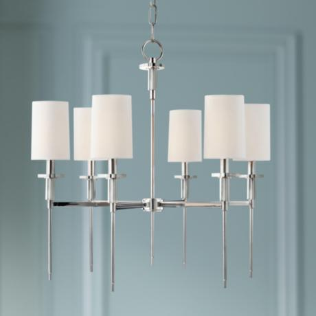 "Hudson Valley Amherst 25"" Wide Polished Nickel Chandelier"