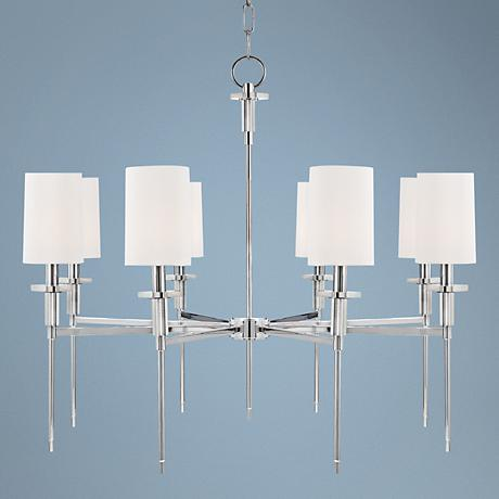 "Hudson Valley Amherst 32"" Wide Polished Nickel Chandelier"
