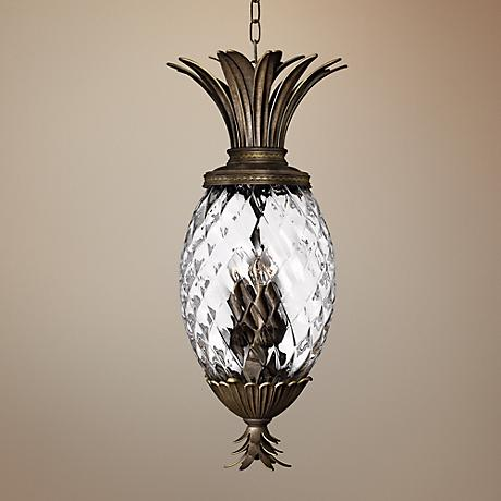 "Hinkley Plantation 12 1/2"" Wide Bronze Pendant Light"