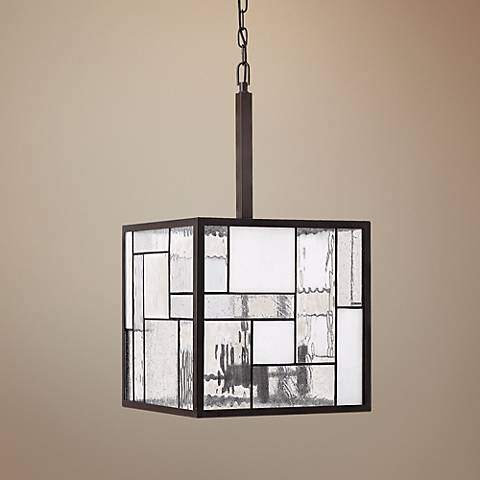 "Hinkley Mondrian 4-Light 14"" Wide Bronze Pendant Light"