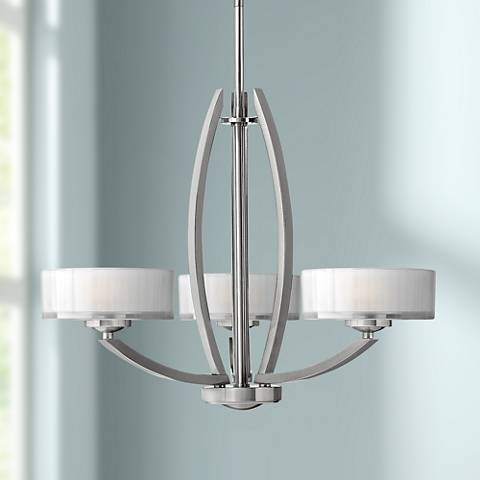 "Hinkley Meridian Collection 24"" Wide Nickel Pendant Light"