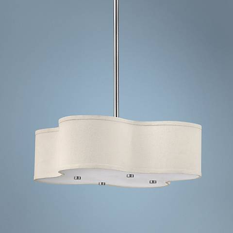 "Hinkley Cirrus Collection 20"" Wide Nickel Pendant Light"