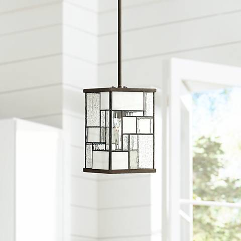 "Hinkley Mondrian 7"" Wide Buckeye Bronze Mini Pendant Light"