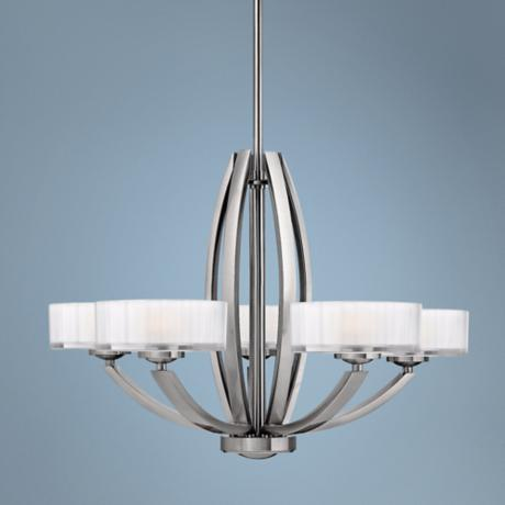 "Hinkley Meridian Collection 27"" Wide Nickel Pendant Light"