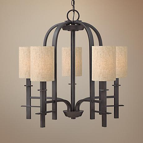 "Hinkley Sloan Collection 26"" Wide Regency Bronze Chandelier"