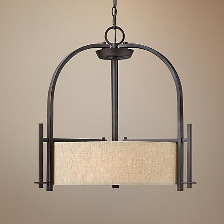 "Hinkley Sloan Collection 24"" Wide Bronze Pendant Light"