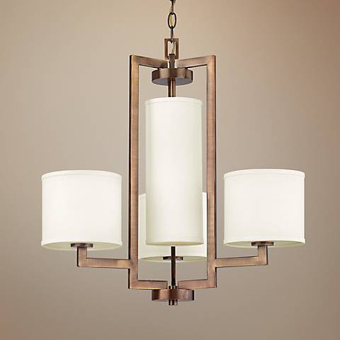 "Hinkley Hampton Collection 24 3/4"" Wide Bronze Chandelier"