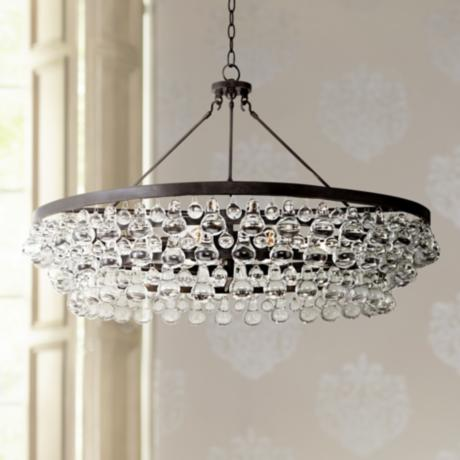 Robert Abbey Bling Collection Large Deep Bronze Chandelier