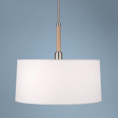 Robert Abbey Adaire White Oak Finish Pendant Light